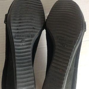 Kelly & Katie Shoes - KELLY & KATIE FAUX BLACK SUEDE SIZE 9 FLATS